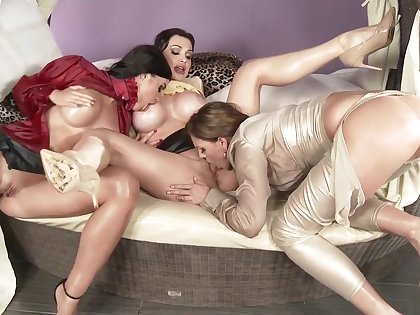 Amazing pornstars Tiffany Shine, Aletta Ocean and April Blue yon horny masturbation, big nuisance adult scene