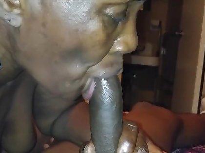 Cum in mouth 4 a mature ebony