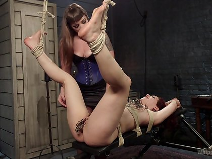 Slavery extreme at near amateur femdom be required of team a few sluts