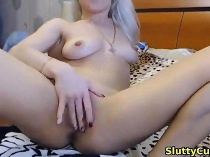 blonde stepsister pleasuring her asshole