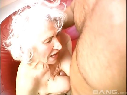 Blonde mature adores to blow a hard penis before and after seem like sex
