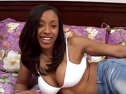Tattooed ebony approximately bikini is sexually complacent approximately a POV bed sex