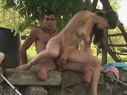 Outdoor sex is unforgettable experience for sexy with an increment of wild dour