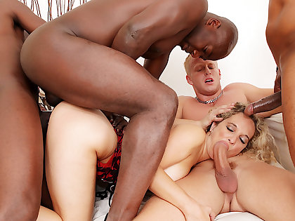Amelie Matis Has All of Her Fuckholes Destroyed in a Debauched BBC Gangbang