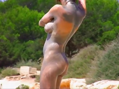 Collection of wonderful asses on rub-down the beach PART 3