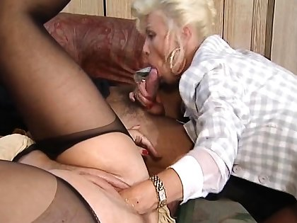 Hot and horny kirmess mature fucked and fisted on bed