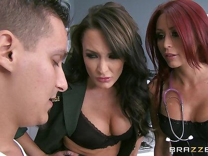 Shunned FFM threesome with pornstars Alektra Down in the mouth & Monique Alexander