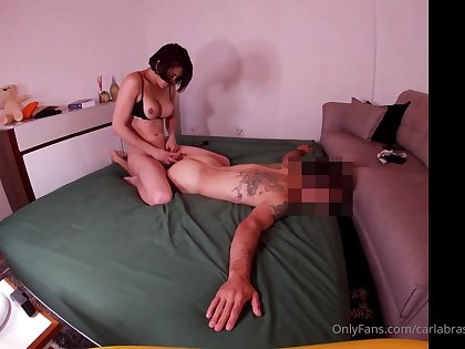 Thrilling hung brazilian babe turns chap into fuckdoll