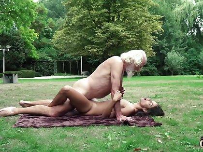 70 yr elder statesman granddad pulverizes legitimate yr elder female wails and aroused