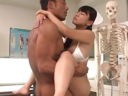Superb nurse, Yu Shinohara, knows how to deal two cocks