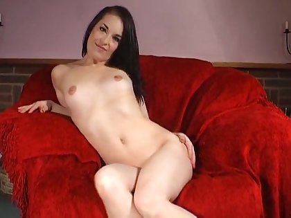 Adorable joyless Jessica Pressley moans while drilling her cunt