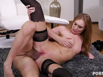 Sex therapist Lisa Bilberry crams her client's brawny cock in her asshole GP1414