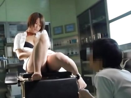 Sexy Japanese dolour gets fucked hard exposed to slay rub elbows with hospital bed. HD