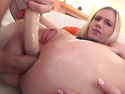 Pretty good with gaping asshole nicely drilled by horny partner